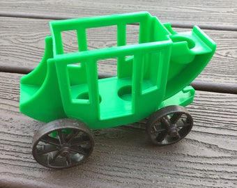 Vintage Fisher-Price Little People Green Stagecoach for Western Town
