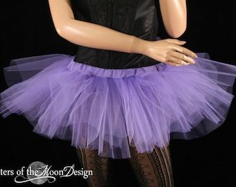 Mini micro tutu skirt light purple dance costume roller derby gogo dancer race run teen child girls -You Choose Size - Sisters Of the Moon