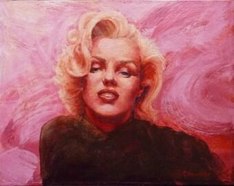 Marilyn Monroe, Marilyn Monroe painting, Original painting, Marilyn Monroe portrait,  Painting for sale, Marilyn Monroe art, Figure