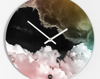 """Wall clock """"Pink clouds"""""""