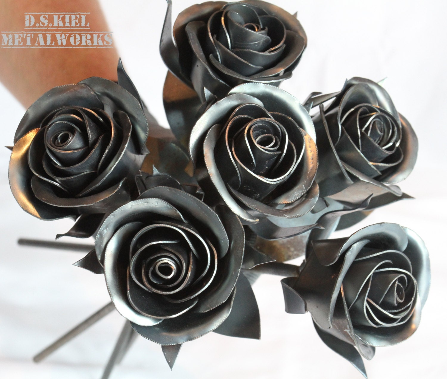 Metal Rose Wedding Bouquet Sweetheart Rose Bridal Bouquet