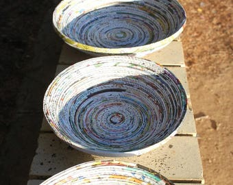 Recycled Newspaper Bowl (Large Size)