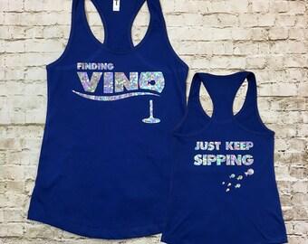 Finding Vino Women's Racerback Tank Top
