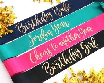 Birthday Party Sashes - Fun Birthday Sashes Any Age - Birthday Sash - Milestone Sash - Gift Sashes