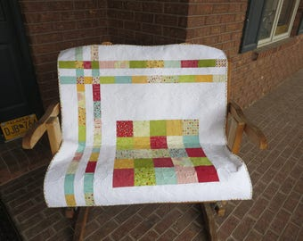 Homemade - Sweetwater -  Wishes Baby Quilt - Unisex Quilt