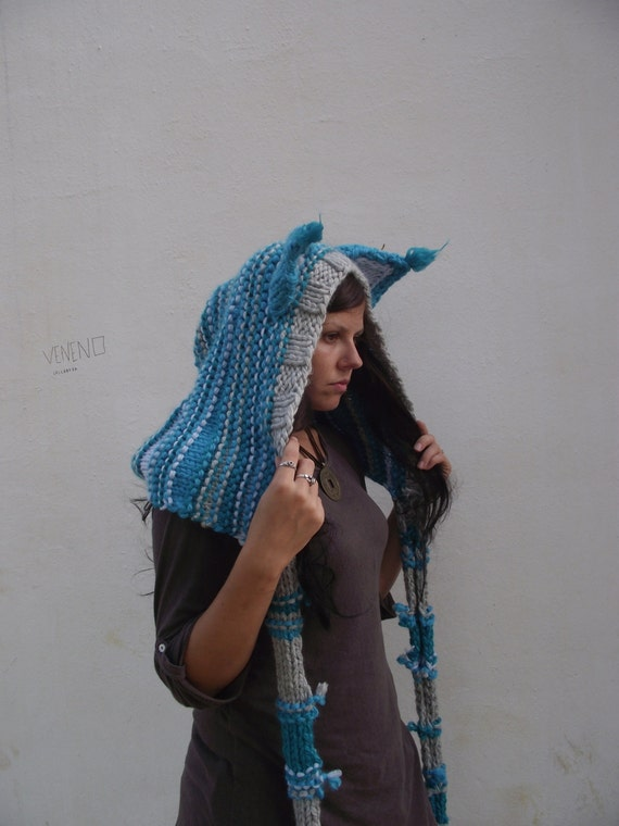 Cat Ears Hoodie Scarf Cheshire Cat Costume Scarf With Hood