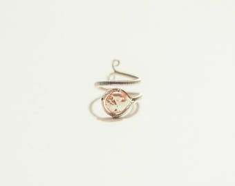 Adjustable Coin Pearl & Sterling Silver Ring