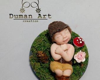 Ooaky The baby art doll sculpture Fantasy Fairy Fae Polymery