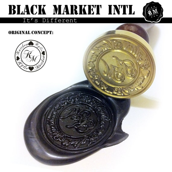 custom wax seal stamp set personalised logo and design