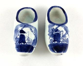 Delfts Blauw Mini Clog Shoes SET OF 2