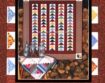 Free Traditional Quilt Pattern Get All your Geese in a Row for Wall Hanging or Quilt: With Appliqué Leaf & Acorn-Patchwork Instant Download