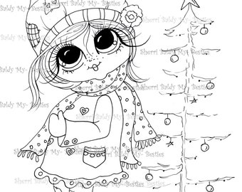 INSTANT DOWNLOAD Digital Digi Stamps Big Eye Big Head Dolls Img478 My Besties Digi By Sherri Baldy