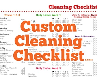 Custom Cleaning Checklist