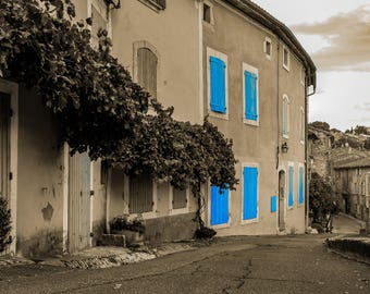 Menerbes - Luberon provence of France, Village, travel, explore, towns, Europe, selective colour, Fine Art Photography