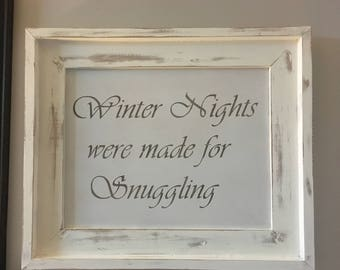 Winter/Christmas wood sign