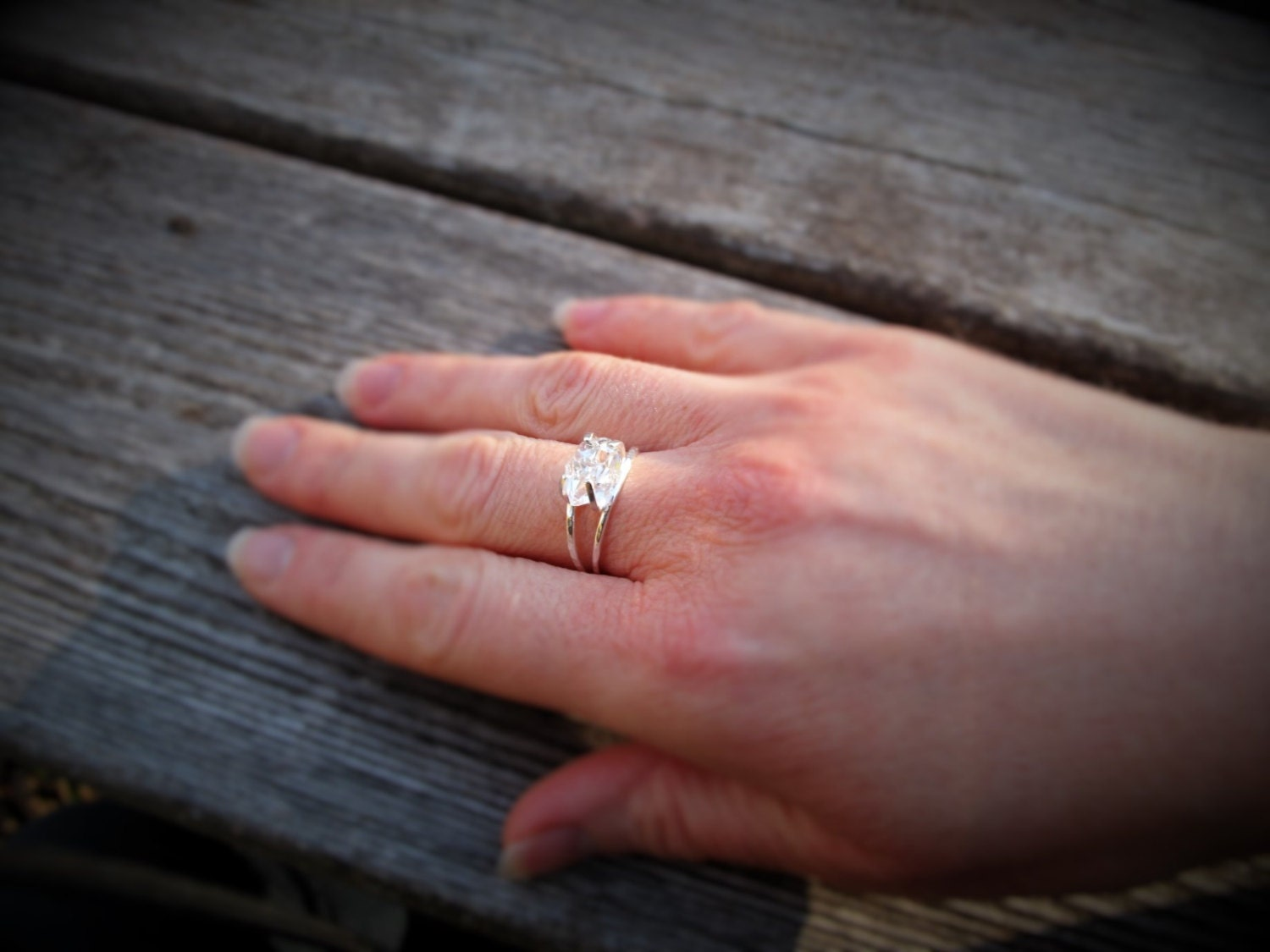 Herkimer Diamond Non-Traditional Wedding Band, Statement Ring ...