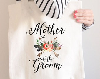 Mother Of The Groom Tote, Gift for her, Mother Of The Groom Bag, Tribal Theme Wedding, Canvas Tote, Tote Bag, Gift For Mother Of Bride