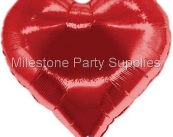 "Casino Hearts Large 35""Foil Balloon Casino Cards Dice Poker Party Supplies Decorations Clubs Diamonds Spades"