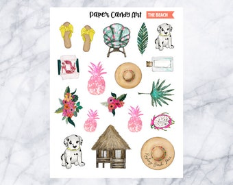 The Beach // Deco Planner Stickers
