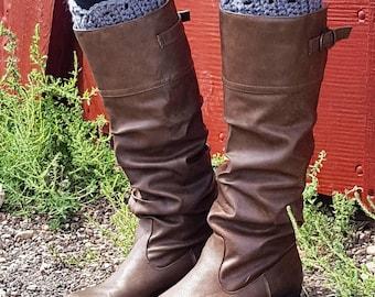 Scalloped Boot Cuffs, Crocheted Boot Cuffs, Handmade, Women's Accessory, Boot Cuff, Crochet Accessory