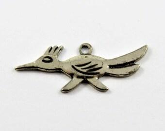 Roadrunner Sterling Silver Charm or Pendant.