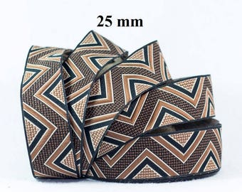 25 mm wide jacquard embroidered Ribbon