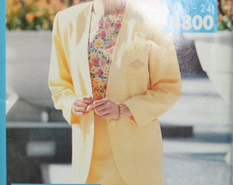 Butterick 4800 Misses Jacket, Top and Skirt Sewing Pattern New/Uncut Size16-18-20-22-24
