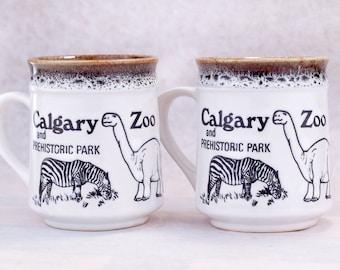 Pair of Calgary Zoo - Stoneware Mugs