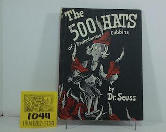 1970's Random House-Dr.Seuss-The 500 Hats of Bartholomew Cubbins-Hardcover edition