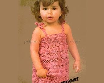 Toddler SunDress PDF of a Vintage Crochet Pattern B016 from WonkyZebraBaby