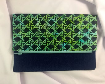 Evening fold over clutch