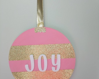 Wall hanging 'Joy' ornament