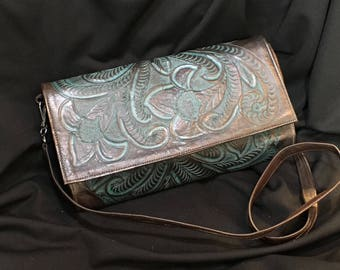 Tooled Leather Crossover