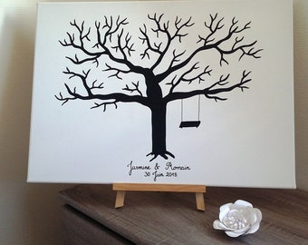 tree prints wedding, birthday, christening, birthday wedding with 1 pad 4 colors available