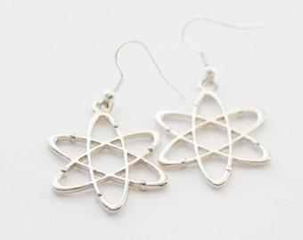 Atom Earrings, Science Earrings, Atom Jewelry, Chemistry Earrings, Atomic Earrings, Scientist Earrings, Physics Earrings, Molecule Earrings