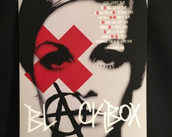 Blackbox 2012 UK Tour Poster Twiggy Signed/Numbered