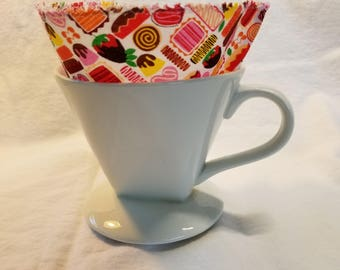 Coffee Filters, Size 4 Cone, Washable Coffee Filter, Reusable Coffee Filters