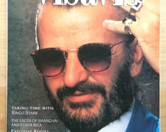Rare Ringo Starr magazine cover and story, excellent condition, free shipping in the U.S.
