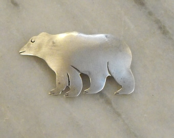 Sterling Silver Bear Brooch