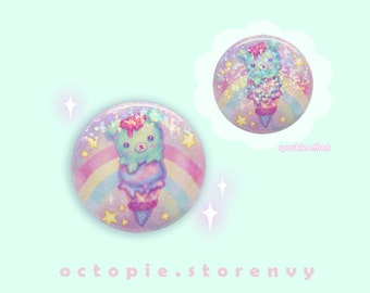 """Sparkly Bearcone 1.5"""" Button / Pin / Badge"""