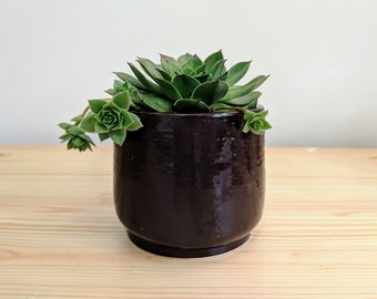 Handmade Chocolate Brown Ceramic Planter