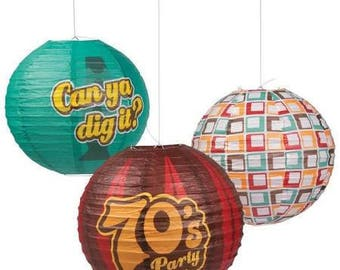 3/ My 70's Party Lanterns / Party decorations / 70's theme party / party lanterns / 70's