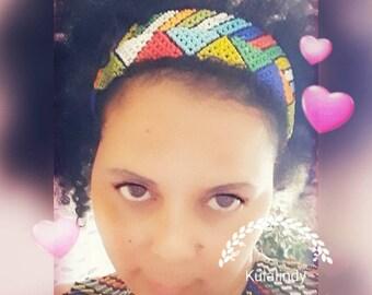 Handmade Zulu Tribal/ ethnic beaded headband.