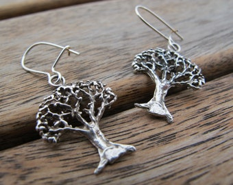 Tree Of Life Earrings, Drop Earrings, Sterling Silver Earrings, Silver Dangle Earrings, Nature Earrings, Tree Earrings, Tree Jewelry, Gift