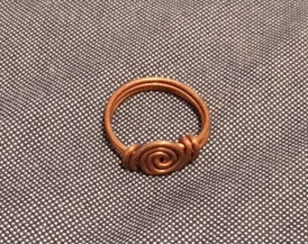 Hand Made Viking Style Copper Ring - Size 13