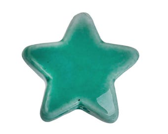 Star seagreen color ceramic beads