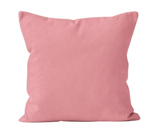 Bubblegum Pink Pillow Cover, Dusty Rose Pillow Cover, Bubble Gum Toss Pillow Cover Cushion Cover, Pink Throw Pillow Cover 18x18 _M