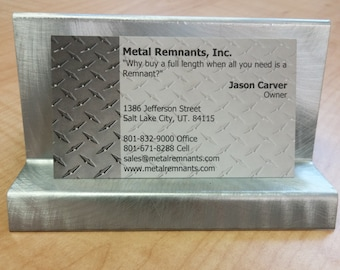 Vandalized Galvanized Steel Business Card Holder
