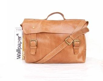 women Laptop messenger bag , Women Leather briefcase