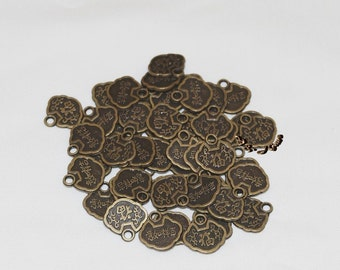 12 Charms, Chinese Coin, Antique Bronze.. Good Luck/Good Fortune